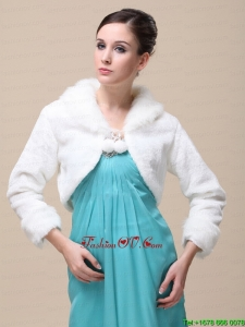 Romantic Fox Fringed Fur Special Jacket In Ivory With High Neck