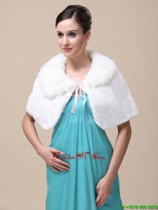 Top Selling High Quality Instock Special Occasion Wedding / Bridal Shawl With Fold Over Collar
