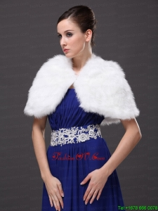 High Neck Perfect Faux Fur Prom Wraps / Shawls