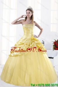 Most Popular and Classic Strapless Beading Quinceanera Dresses for 2015