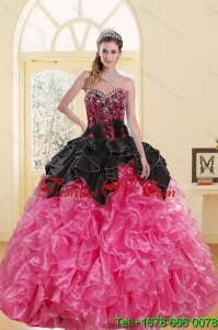 2015 Most Popular Beading and Ruffles Detachable Quinceanera Skirts in Multi Color