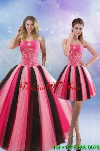 Beautiful and Lovely 2015 Beading Quinceanera Dresses in Multi Color