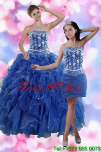2015 Fashionable Strapless Quinceanera Dresses in Royal Blue