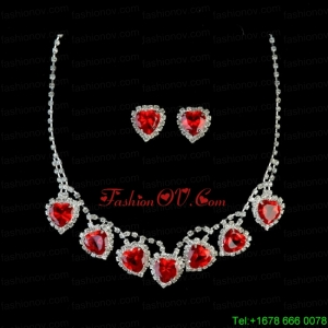 Gorgeous Sweetheart Shaped Rhinestones Necklace And Earring Set