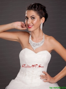 High Quality Crystal Jewelry Set Including Necklace and Earrings