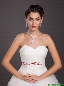 Shining Alloy Crystal Jewelry Set Including Necklace And Earrings