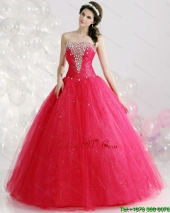 New Style Strapless 2015 Quinceanera Gowns with Rhinestones