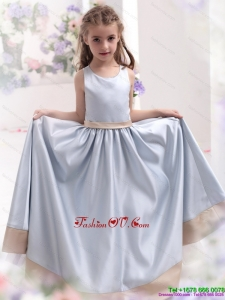 Silver Scoop 2015 New Style Little Girl Pageant Dress with Waistband