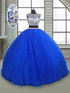 Fine Sleeveless Lace Up Floor Length Beading Sweet 16 Dresses
