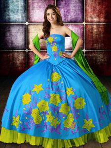 Most Popular Floor Length Ball Gowns Sleeveless Multi-color Quinceanera Dress Lace Up