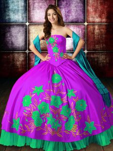Ball Gowns Ball Gown Prom Dress Multi-color Strapless Satin Sleeveless Floor Length Lace Up