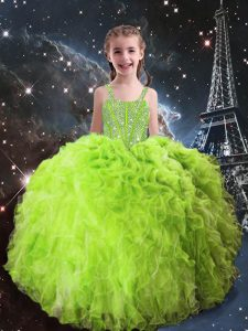 Modern Sleeveless Organza Lace Up Party Dress Wholesale for Quinceanera and Wedding Party