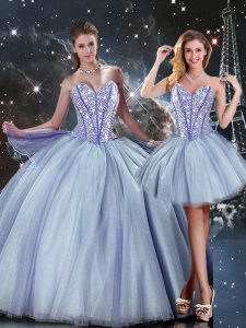 Floor Length Ball Gowns Sleeveless Blue Vestidos de Quinceanera Lace Up