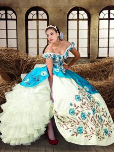 Chic Floor Length Ball Gowns Sleeveless Multi-color Quinceanera Gown Lace Up