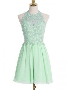 Fashionable Sleeveless Appliques Lace Up Bridesmaids Dress