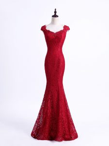 Lace Sleeveless Floor Length Evening Dress and Lace
