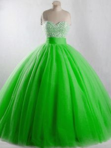 Sweetheart Lace Up Beading Sweet 16 Quinceanera Dress Sleeveless