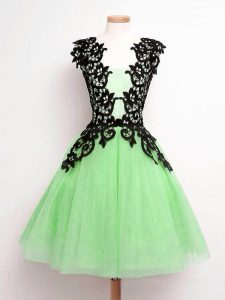 Fancy Straps Lace Up Lace Quinceanera Court of Honor Dress Sleeveless