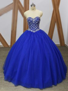 Affordable Tulle Sleeveless Floor Length Sweet 16 Quinceanera Dress and Beading