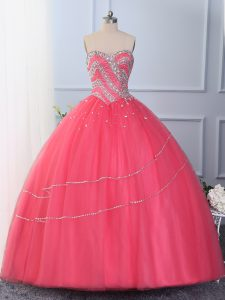 Stylish Sleeveless Beading Lace Up Vestidos de Quinceanera