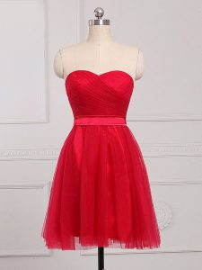 Modern Sleeveless Ruching Zipper Wedding Party Dress