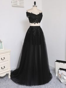 Dazzling Sleeveless Zipper Floor Length Beading Prom Evening Gown
