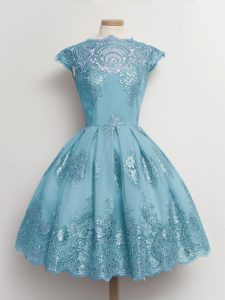 Edgy Cap Sleeves Lace Lace Up Quinceanera Court Dresses