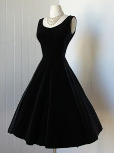 Wonderful Black A-line Taffeta Scoop Sleeveless Bowknot Knee Length Zipper Prom Dress