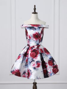 Popular Ruching Junior Homecoming Dress Multi-color Lace Up Sleeveless Mini Length