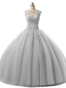Spectacular Sleeveless Beading and Lace Lace Up 15 Quinceanera Dress