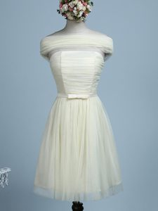 Light Yellow Sleeveless Mini Length Belt Side Zipper Court Dresses for Sweet 16