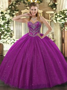 Cheap Sleeveless Beading Lace Up 15 Quinceanera Dress