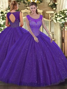 Sleeveless Backless Floor Length Beading Quinceanera Gowns