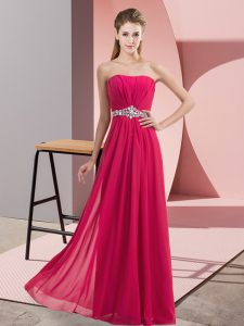 Sumptuous Hot Pink Sleeveless Tulle Zipper Homecoming Dress for Prom and Party