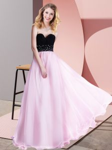 Lilac Tulle Lace Up Prom Gown Sleeveless Floor Length Beading