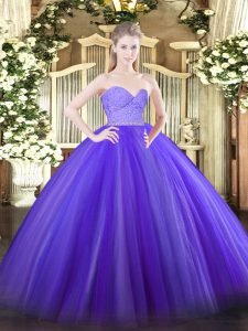 Enchanting Floor Length Ball Gowns Sleeveless Lavender Quinceanera Dress Zipper