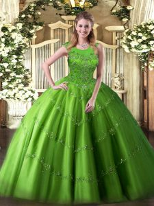 Floor Length Ball Gowns Sleeveless Quinceanera Dress Zipper