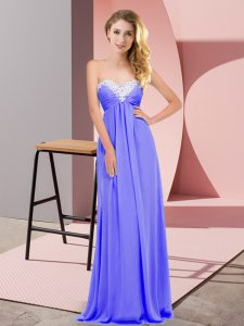 Superior Floor Length Lavender Prom Dress Sweetheart Sleeveless Lace Up