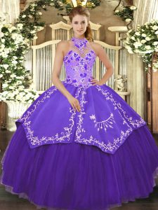 Sleeveless Beading and Embroidery Lace Up Sweet 16 Dresses