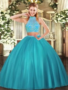 Sleeveless Beading Criss Cross Sweet 16 Dresses