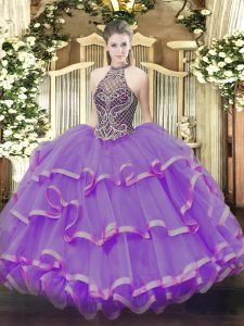 Vintage Ball Gowns Sleeveless Eggplant Purple 15th Birthday Dress Lace Up