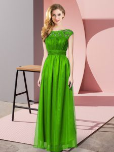 Green Strapless Zipper Lace Homecoming Dress Sleeveless