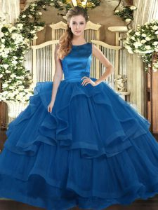Pretty Sleeveless Ruffles Lace Up Quinceanera Dress