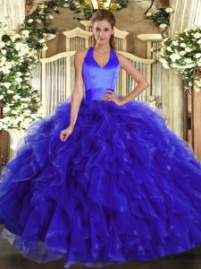 Admirable Sleeveless Lace Up Floor Length Ruffles Sweet 16 Quinceanera Dress