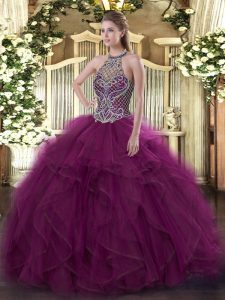 Low Price Sleeveless Beading Lace Up Ball Gown Prom Dress