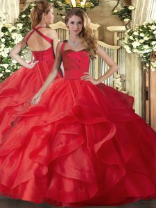 Custom Made Sleeveless Ruffles Lace Up Sweet 16 Dresses