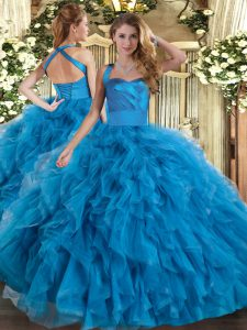 Sleeveless Ruffles Lace Up Quinceanera Dress