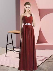 Hot Selling Rust Red Prom Dress Prom and Party with Beading Sweetheart Sleeveless Lace Up
