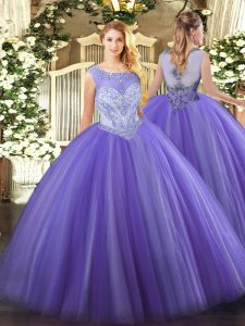 Sleeveless Beading Zipper Quinceanera Dress