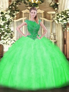 Designer Sleeveless Tulle Zipper Sweet 16 Quinceanera Dress for Sweet 16 and Quinceanera